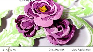 How To Create A Floral Thank You Card With Garden Picks 3D Die Set