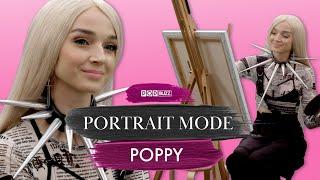 Poppy Paints A Self-Portrait And Talks 'I Disagree' | Portrait Mode | PopBuzz Meets