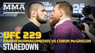 Khabib Nurmagomedov vs. Conor McGregor UFC 229 Staredown - MMA Fighting