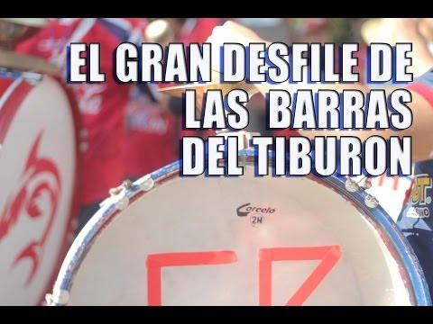 """""""gran desfile"""" Barra: Guardia Roja • Club: Tiburones Rojos de Veracruz"""