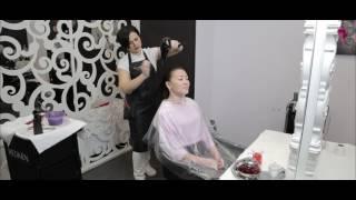 Восстановление и выпрямление волос.