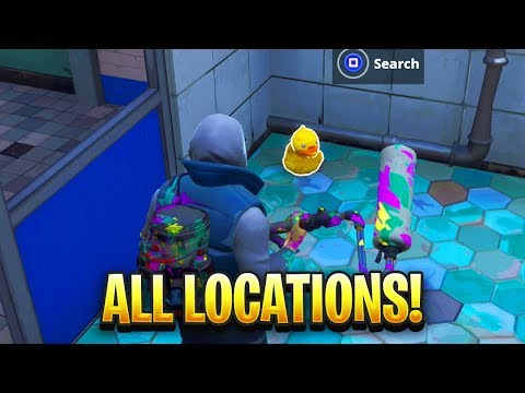 """""""Search Rubber Duckies"""" ALL LOCATIONS in Fortnite"""