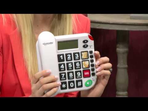 simvalley Notruf-Senioren-Telefon XLF-80Plus mit Garantruf, weiß