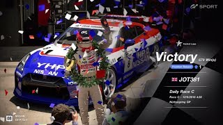 JOT381 GRAN TURISMO SPORT 120818 NURBURGRING NISSAN GT-R 2nd to 1st FASTEST LAP 9 LAPS 679th WIN