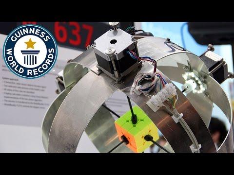 世界紀錄更新!0.637 秒破解魔術方塊的機器人獲得金氏世界紀錄認證