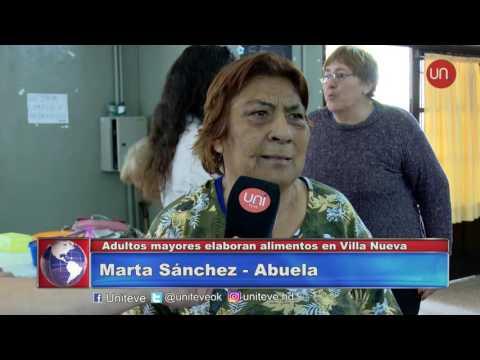 Adultos mayores elaboran alimentos en Villa Nueva