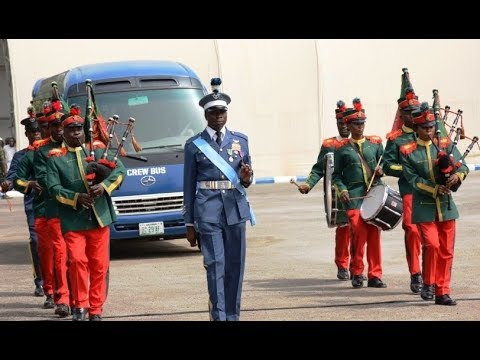 In A Colourful Traditional Attire, Nigerian Air Force Escorting the Special Guest Of Honour