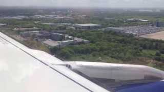 preview picture of video 'Bumpy landing into Heathrow aboard a British Airways A319'