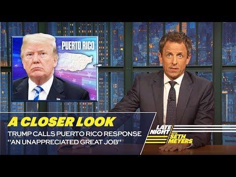 Trump Calls Puerto Rico Response
