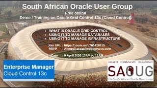 Ahmed Jassat – South African Oracle User Group Oracle Grid Control Training