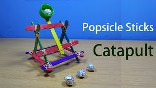 How To Make A Popsicle Sticks Catapult | Build A Mini Catapult