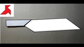 Как сделать кухонный оригами НОЖ из бумаги А4 своими руками?