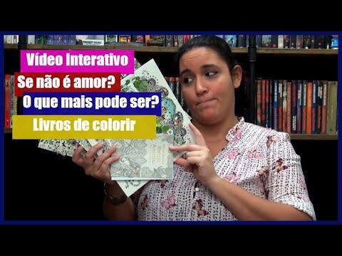 Vídeo Interativo: Livros de colorir | Perdida na Biblioteca