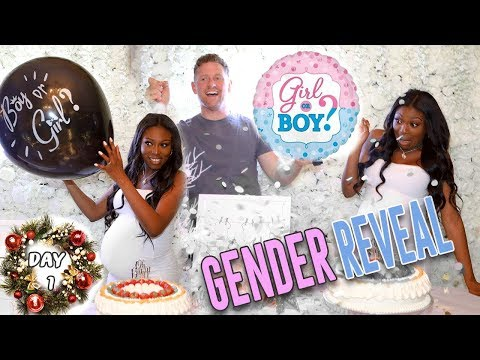 Surprise GENDER Reveal and  BABY SHOWER - BOY OR GIRL??? |12 Days of Christmas