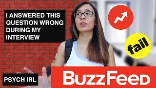 BUZZFEED DIDN'T HIRE ME BECAUSE OF THIS QUESTION
