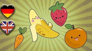 Englisch Lernen Kinder   Früchte und Gemüse   Fruits and Vegetables   Englisch lernen Grundschul