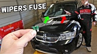 DODGE JOURNEY FRONT WINDSHIELD WIPERS FUSE LOCATION  FIAT FREEMONT WINDSCREEN WIPERS FUSE