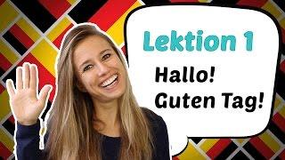 GERMAN LESSON 1: Learn German for Beginners - German Greetings 🤗
