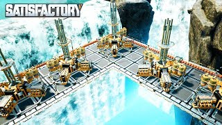 BUILDING A WATERFALL POWER PLANT BASE WITH FUEL GENERATORS IN SATISFACTORY - Satisfactory