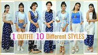 1 OUTFIT Wear In 10 Different STYLES | #Lookbook #Fashion #Hacks #ShrutiArjunAnand #Anaysa