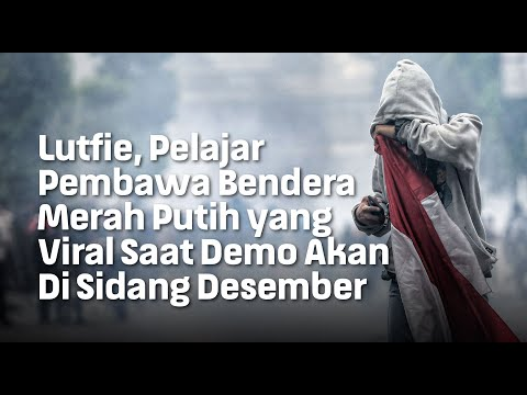 Lutfie, Pelajar Pembawa Bendera Merah Putih yang Viral Saat Demo Akan Di Sidang Desember