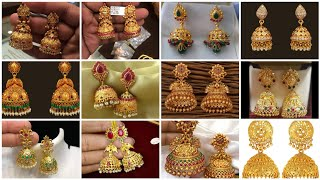 Gold Buttalu Earrings Designs With Weight//my Gold Earrings Collection