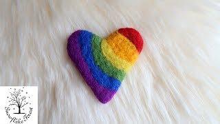 Felt Heart Craft Rainbow Heart