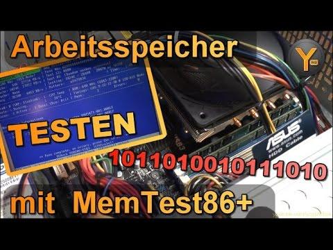 Arbeitsspeicher (RAM) auf Fehler überprüfen mit MemTest86+