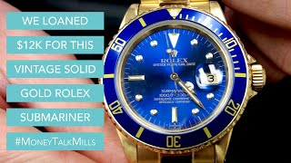 Vintage Solid Gold Rolex Submariner