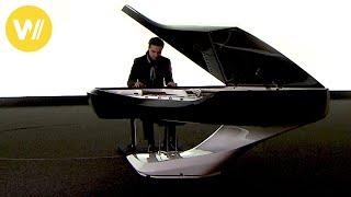 Peugeot designers build the Piano of the Future: The carbon fiber Grand Piano