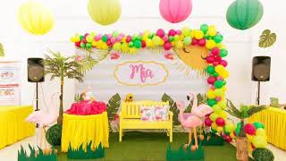 Tropical Flamingo Themed Party By Party Dish- Event Styling