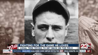 Local teen Gehrig Taylor fighting to return to the baseball field
