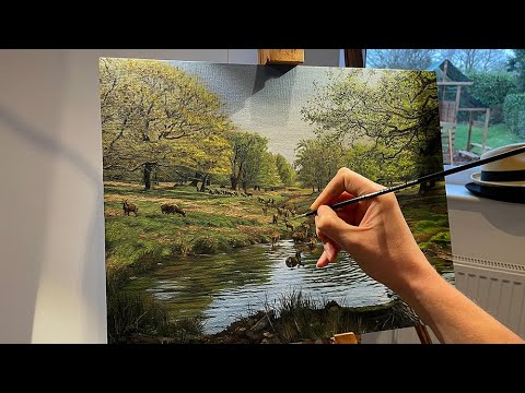 Thumbnail of Landscape Oil Painting Time Lapse - My first painting in 13 years!