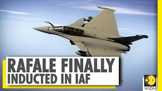 Rafale induction ceremony at Ambala airbase | Aircraft becomes part of IAF's 17 squadron