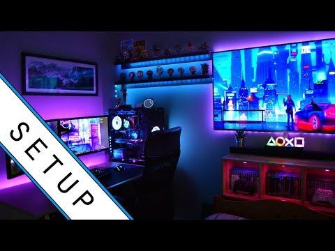 Gaming Setup / Room Tour! - 2019 - Ultimate Small Room Setup!