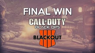 Last Win Of The COD Black Ops 4 BLACKOUT Beta
