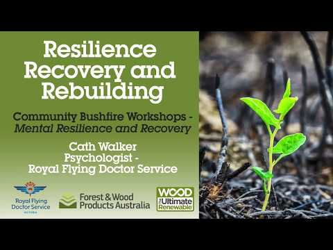 Cath Walker speaks at the Resilience, Recovery and Rebuilding Victorian Bushfire Workshop.