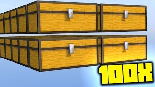 experiment - OPENING 100X UNiQUE CHESTS! (Minecraft Ice Factions #19)