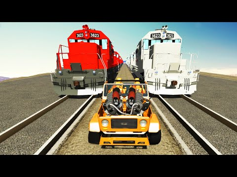 TRAIN Smasher Crusher Squeezer - BeamNG DRIVE | Crashtherapy