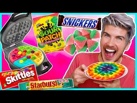 MAKING WAFFLES OUT OF CANDY!
