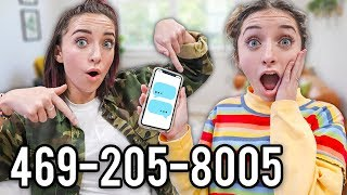 WOW! Text Us! 469-205-8005 (yes this is real)