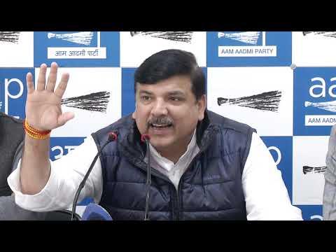 AAP Rajya Sabha MP Sanjay Singh & ND Gupta Addresses Media on Rafale Scam