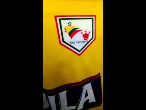 """""""Vamos Cartagena"""" Barra: Rebelión Auriverde Norte • Club: Real Cartagena"""