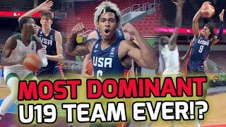 """Team USA FLEXES On Senegal In FIBA Quarterfinals! Chet Holmgren Holds Down 6'11"""" Senegal Star! 👀"""