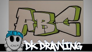 How To Draw Graffiti  - Graffiti Letters ABC Step By Step