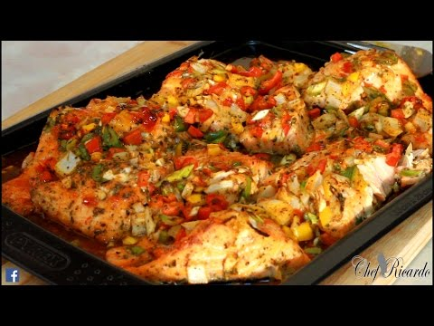 Season Salmon Oven Bake At Home | Recipes By Chef Ricardo