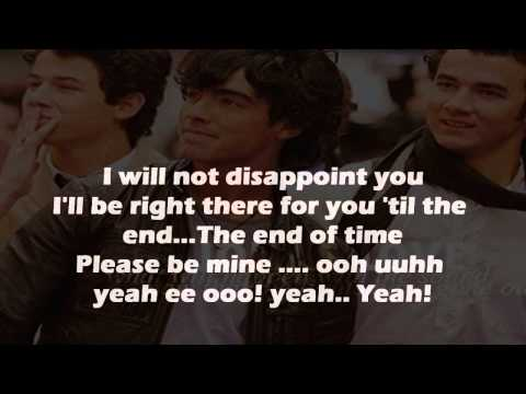Karaoke Please be mine Jonas Brothers Instrumental