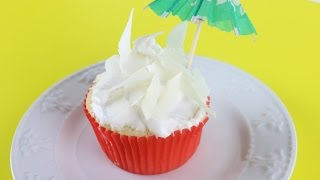 Receta Pastelitos De Coco Delicioso Con Frosting – Coconut Cupcakes