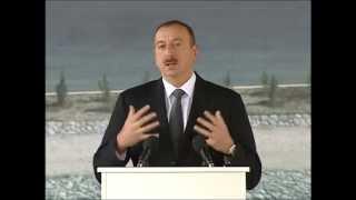 preview picture of video 'İlham Əliyevin Taxtakörpü Su Anbarı və Su Elektrik Stansiyasının açılışında nitqi'