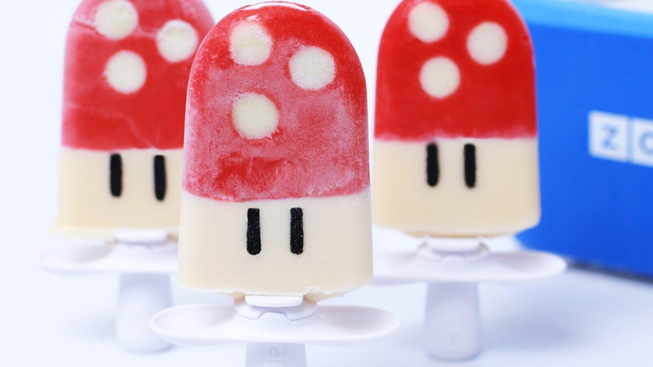 SUPER MARIO MUSHROOM POPSICLES - NERDY NUMMIES thumbnail